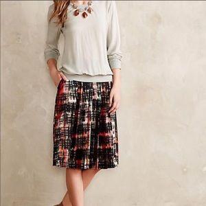 Anthropologie Fynn & Rose Abstracted Plaid Skirt
